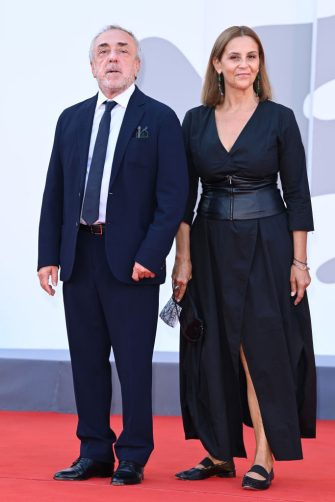 VENICE, ITALY - SEPTEMBER 11: Silvio Orlando and Imma Villa attend the closing ceremony red carpet during the 78th Venice International Film Festival on September 11, 2021 in Venice, Italy. (Photo by Daniele Venturelli/WireImage)