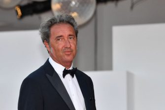 Italian director Paolo Sorrentino arrives for the closing ceremony of the 78th Venice Film Festival on September 11, 2021 at Venice Lido. (Photo by Filippo MONTEFORTE / AFP) (Photo by FILIPPO MONTEFORTE/AFP via Getty Images)