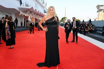 VENICE, ITALY - SEPTEMBER 11: Tiziana Rocca attends the closing ceremony red carpet during the 78th Venice International Film Festival on September 11, 2021 in Venice, Italy. (Photo by Pascal Le Segretain/Getty Images)