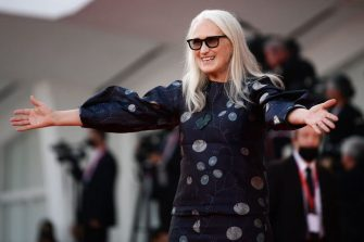 New Zealand director Jane Campion arrives for the closing ceremony of the 78th Venice Film Festival on September 11, 2021 at Venice Lido. (Photo by Filippo MONTEFORTE / AFP) (Photo by FILIPPO MONTEFORTE/AFP via Getty Images)
