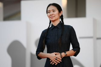 Jury member of the 78th Venice Film festival, Chinese director Chloe Zhao arrives for the closing ceremony of the 78th Venice Film Festival on September 11, 2021 at Venice Lido. (Photo by Filippo MONTEFORTE / AFP) (Photo by FILIPPO MONTEFORTE/AFP via Getty Images)