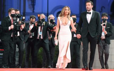 US actor Ben Affleck (R) and US actress and singer Jennifer Lopez (L)  arrives for the premiere of  'The Last Duel' during the 78th annual Venice International Film Festival, Venice, Italy, 10 September 2021. The movie is presented out of competition at the festival running from 01 to 11 September.  ANSA/ETTORE FERRARI