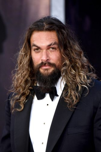 """LONDON, ENGLAND - SEPTEMBER 28: Jason Momoa attends the World Premiere of """"NO TIME TO DIE"""" at the Royal Albert Hall on September 28, 2021 in London, England. (Photo by Jeff Spicer/Getty Images for EON Productions, Metro-Goldwyn-Mayer Studios, and Universal Pictures)"""