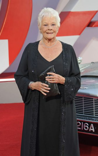 """LONDON, ENGLAND - SEPTEMBER 28:  Dame Judi Dench attends the World Premiere of """"No Time To Die"""" at the Royal Albert Hall on September 28, 2021 in London, England.  (Photo by David M. Benett/Dave Benett/Getty Images)"""