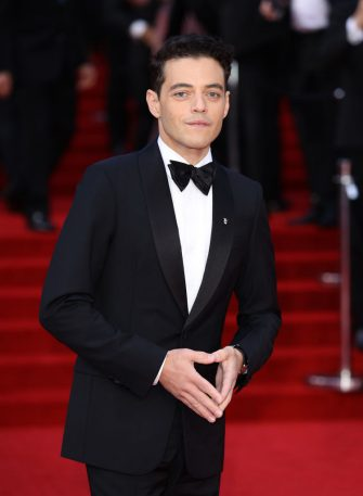 """LONDON, ENGLAND - SEPTEMBER 28: Rami Malek attends the """"No Time To Die"""" World Premiere at Royal Albert Hall on September 28, 2021 in London, England. (Photo by Mike Marsland/WireImage)"""