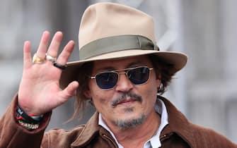 SAN SEBASTIAN, SPAIN - SEPTEMBER 23: Johnny Depp is seen at Maria Cristina Hotel during 69th San Sebastian International Film Festival on September 23, 2021 in San Sebastian, Spain. (Photo by JB Lacroix/WireImage)