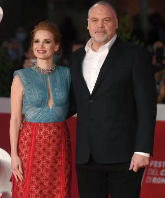 US actors Jessica Chastain (L) and Vincent D'Onofrio (R) arrive for the screening of 'The Eyes of Tammy Faye' at the 16th annual Rome International Film Festival, in Rome, Italy, 14 October 2021. The film festival runs from 14 to 24 October. ANSA/ETTORE FERRARI