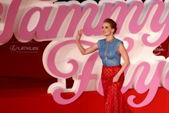 """ROME, ITALY - OCTOBER 14: Jessica Chastain attends the red carpet of the movie """"The Eyes Of Tammie Fay"""" during the 16th Rome Film Fest 2021 on October 14, 2021 in Rome, Italy. (Photo by Franco Origlia/Getty Images)"""