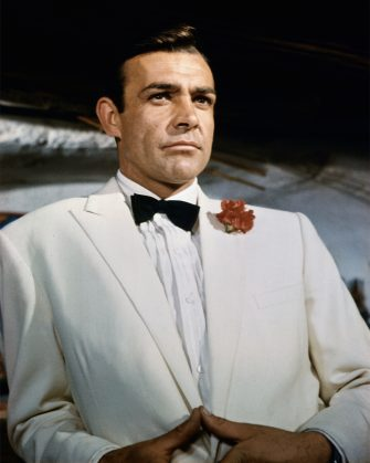 Sean Connery as secret agent 007, James Bond, in the movie Goldfinger.