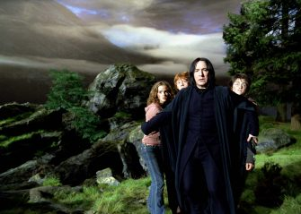 """From left to right: EMMA WATSON as Hermione Granger, RUPERT GRINT as Ron Weasley, ALAN RICKMAN as Professor Severus Snape and DANIEL RADCLIFFE as Harry Potter in Warner Bros. Pictures' """"Harry Potter and the Prisoner of Azkaban.""""   PHOTOGRAPHS TO BE USED SOLELY FOR ADVERTISING, PROMOTION, PUBLICITY OR REVIEWS OF THIS SPECIFIC MOTION PICTURE AND TO REMAIN THE PROPERTY OF THE STUDIO. NOT FOR SALE OR REDISTRIBUTION"""