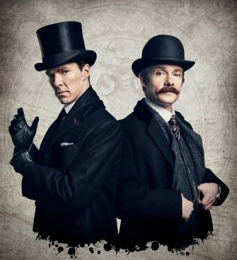 WARNING: Embargoed for publication until 00:00:01 on 24/11/2015 - Programme Name: Sherlock - TX: 01/01/2016 - Episode: The Abominable Bride (No. 1) - Picture Shows: ** STRICTLY EMBARGOED FOR PUBLICATION UNTIL 24TH NOVEMBER 2015** Dr John Watson (MARTIN FREEMAN), Sherlock Holmes (BENEDICT CUMBERBATCH) - (C) Hartswood Films - Photographer: Robert Viglasky