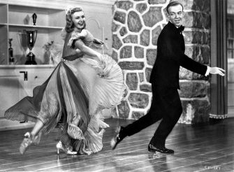 Fred Astaire (1899 - 1987) and Ginger Rogers (1911 - 1995) star in the comedy musical 'Carefree', directed by Mark Sandrich for RKO. (Photo by Hulton Archive/Getty Images)