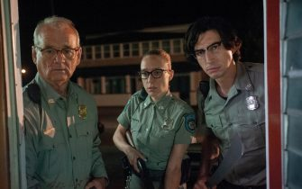 "(L to R) Bill Murray as ""Officer Cliff Robertson"", ChloÎ Sevigny as ""Officer Minerva Morrison"" and Adam Driver as ""Officer Ronald Peterson"" in writer/director Jim Jarmusch's THE DEAD DON'T DIE, a Focus Features release.  Credit : Abbot Genser / Focus Features  © 2019 Image Eleven Productions, Inc."
