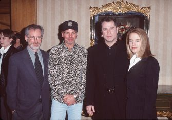 Steven Spielberg, Billy Bob Thornton, John Travolta, Kelly Preston (Photo by SGranitz/WireImage)