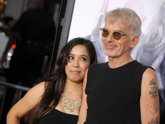 """HOLLYWOOD, CA - OCTOBER 26:  Actor Billy Bob Thornton and wife Connie Angland arrive at the premiere of Warner Bros. Pictures' """"Our Brand Is Crisis"""" at TCL Chinese Theatre on October 26, 2015 in Hollywood, California.  (Photo by Gregg DeGuire/WireImage)"""