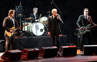 NEW YORK - OCTOBER 15:  Actor/musician Billy Bob Thornton performs with his band The Boxmasters at the Country Music Hall of  Fame & Museum's 2nd Annual All for The Hall NY Benefit at Nokia Theater on October 15, 2008 in New York City.  (Photo by Scott Gries/Getty Images)
