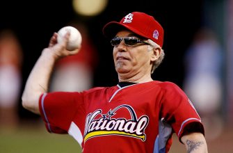 ST. LOUIS - JULY 12: Actor/musician Billy Bob Thornton throws during the Taco Bell All-Star Legends & Celebrity Softball Game at Busch Stadium on July 12, 2009 in St. Louis, Missouri. (Photo by Dilip Vishwanat/Getty Images)