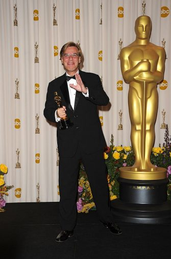 HOLLYWOOD, CA - FEBRUARY 27:  Screenwriter Aaron Sorkin, winner of the award for Best Adapted Screenplay for 'The Social Network', poses in the press room during the 83rd Annual Academy Awards held at the Kodak Theatre on February 27, 2011 in Hollywood, California.  (Photo by Jason Merritt/Getty Images)