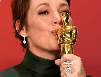 HOLLYWOOD, CALIFORNIA - FEBRUARY 24: Olivia Colman, winner of Best Actress for 'The Favourite,' poses in the press room during the 91st Annual Academy Awards at Hollywood and Highland on February 24, 2019 in Hollywood, California. (Photo by Frazer Harrison/Getty Images)