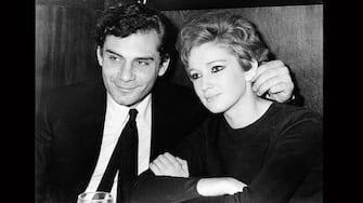 Italian actor and scenarist Gian Maria Volonté smiling with his partner, the Italian actress Carla Gravina. Milan, March 1968 (Photo by Mondadori Portfolio by Getty Images)