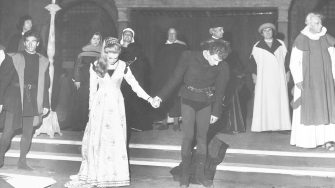 UNSPECIFIED - JANUARY 01:  Gian Maria Volonte And Carla Gravina In The Play Juliet And Romeo. 1960'S  (Photo by Keystone-France/Gamma-Keystone via Getty Images)