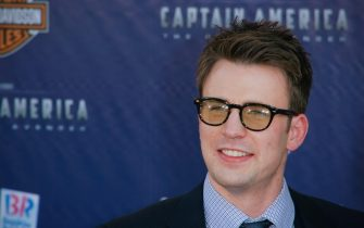 """Chris Evans at the Premiere of Paramount Studios and Marvel Entertainment's """"Captain America"""". Arrivals held at El Capitan Theatre in Hollywood, CA, July 19, 2011.  Photo by Joe Martinez / PictureLux"""