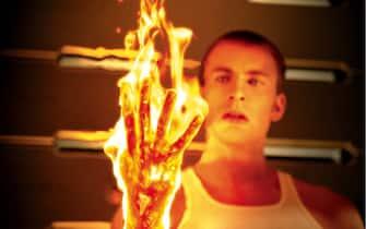 Chris Evans interpreta il ruolo della Torcia Umana ne I Fantastici 4