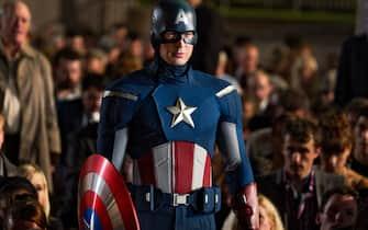 """""""Marvel's The Avengers"""" ..Captain America/Steve Rogers (Chris Evans)..Ph: Zade Rosenthal  ..© 2011 MVLFFLLC.  TM & © 2011 Marvel.  All Rights Reserved."""
