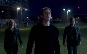 Chris Evans durante le riprese di Avengers: Endgame