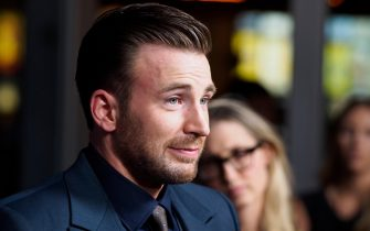 """Chris Evans arrives for the premiere of the film, """"Before We Go"""" on September 2, 2015 in Hollywood, California. Photo by Francis Specker"""
