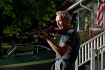 CLINT EASTWOOD stars as Walt Kowalski in Warner Bros. Picturesâ   and Village Roadshow Picturesâ   drama â  Gran Torino,â   distributed by Warner Bros. Pictures. PHOTOGRAPHS TO BE USED SOLELY FOR ADVERTISING, PROMOTION, PUBLICITY OR REVIEWS OF THIS SPECIFIC MOTION PICTURE AND TO REMAIN THE PROPERTY OF THE STUDIO. NOT FOR SALE OR REDISTRIBUTION.