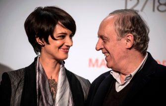 Italian director Dario Argento (R) and his daughter actress Asia (L) pose on October 12, 2015  as they arrive to attend the sixth Lumiere Film Festival opening ceremony in the central French city of Lyon. AFP PHOTO / JEAN-PHILIPPE KSIAZEK (Photo by Jean-Philippe KSIAZEK / AFP)        (Photo credit should read JEAN-PHILIPPE KSIAZEK/AFP via Getty Images)