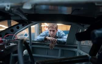 Film - Drive. Foto di scena. Nella foto, Ryan Gosling.