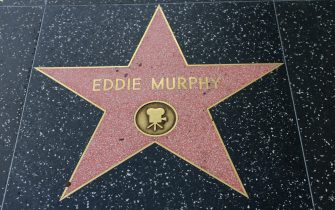 HOLLYWOOD, CA - DECEMBER 06: Eddie Murphy star on the Hollywood Walk of Fame in Hollywood, California on Dec. 6, 2016.