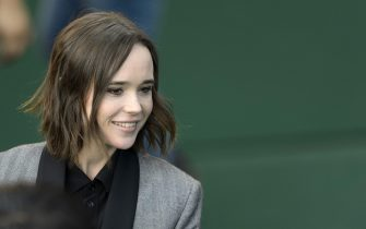 epa04949196 Canadian actress Ellen Page arrives on the green carpet for the premiere of the movie 'Freeheld' at the Zurich Film Festival (ZFF), in Zurich, Switzerland, 25 September 2015. The festival runs from 24 September to 04 October.  EPA/ANTHONY ANEX