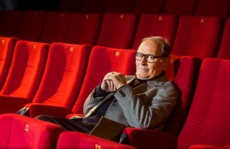 Ennio Morricone at a photocall in Berlin, Germany© Action PressLaPresse  --- Only Italy *** Local Caption *** 17983663