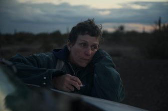 Frances McDormand in the film NOMADLAND. Photo by Joshua James Richards. © 2020 20th Century Studios All Rights Reserved