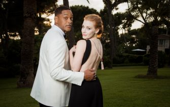 CAP D'ANTIBES, FRANCE - MAY 25:  (EDITORS NOTE: This image has been retouched.)  Will Smith and Jessica Chastain attends the amfAR Gala Cannes 2017 at Hotel du Cap-Eden-Roc on May 25, 2017 in Cap d'Antibes, France.  (Photo by Pascal Le Segretain/amfAR2017/WireImage)