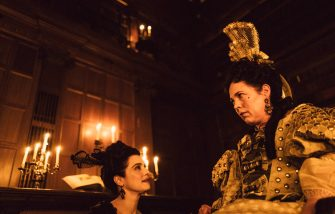 """Rachel Weisz, left, and Olivia Colman star in Fox Searchlight Pictures' """"THE FAVOURITE."""""""