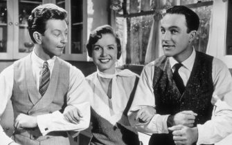 DONALD O'CONNOR, DEBBIE REYNOLDS & GENE KELLYin Singing in the Rain*Editorial Use Only*Ref: FBwww.capitalpictures.comsales@capitalpictures.comSupplied by Capital Pictures