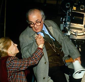 Director Federico Fellini with Actress Giulietta Masina (Photo by Li Erben/Sygma via Getty Images)
