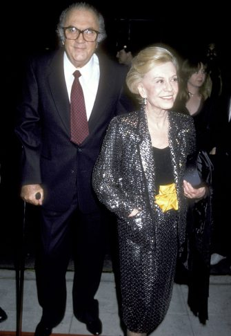 Writer/Director Federico Fellini and wife Giulietta Masina attend the Ginger e Fred New York City Premiere on March 26, 1986 at The Museum of Modern Art in New York City. (Photo by Ron Galella, Ltd./Ron Galella Collection via Getty Images)