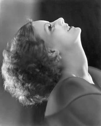 (Original Caption) Portrait of actress Greta Garbo (1905-1990) leaning her head back.