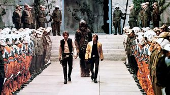 HARRISON FORD, PETER MAYHEW, MARK HAMILL, STAR WARS: EPISODE IV - A NEW HOPE, 1977