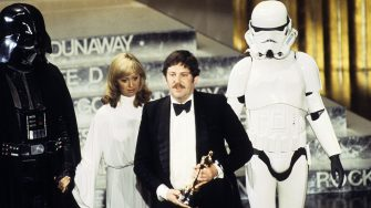 THE 50TH ANNUAL ACADEMY AWARDS - Show Coverage - Shoot Date: April 3, 1978. (Photo by Walt Disney Television via Getty Images Photo Archives/Walt Disney Television via Getty Images)DARTH VADER;UNKNOWN;JOHN MOLLO;STORMTROOPER