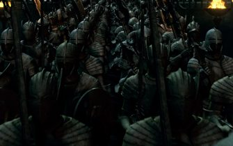 """Stone Soldiers guarding Hogwarts in Warner Bros. Pictures' fantasy adventure """"HARRY POTTER AND THE DEATHLY HALLOWS – PART 2,"""" a Warner Bros. Pictures release."""