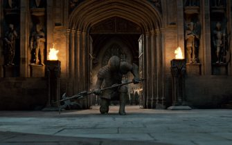 """A Stone Soldier guarding Hogwarts in Warner Bros. Pictures' fantasy adventure """"HARRY POTTER AND THE DEATHLY HALLOWS – PART 2,"""" a Warner Bros. Pictures release."""