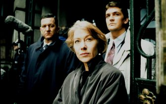 Prime Suspect 2: 1992  John Benfield (left) as Det. Supt. Kernan, Helen Mirren as DCI Tennison and Craig Fairbrass as DI Birken