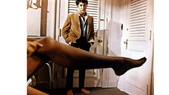 THE GRADUATE Dustin Hoffman watches Anne Bancroft in the classic 1967 comedy