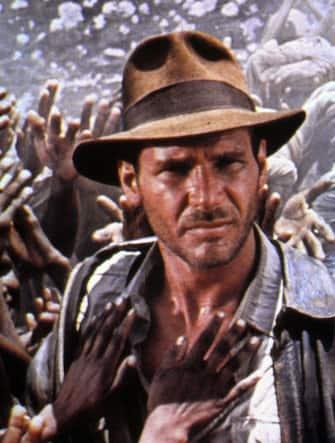 """Harrison Ford in una scena de """"I predatori dell'arca perduta"""""""